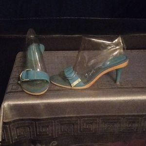 Beautiful blue sandals